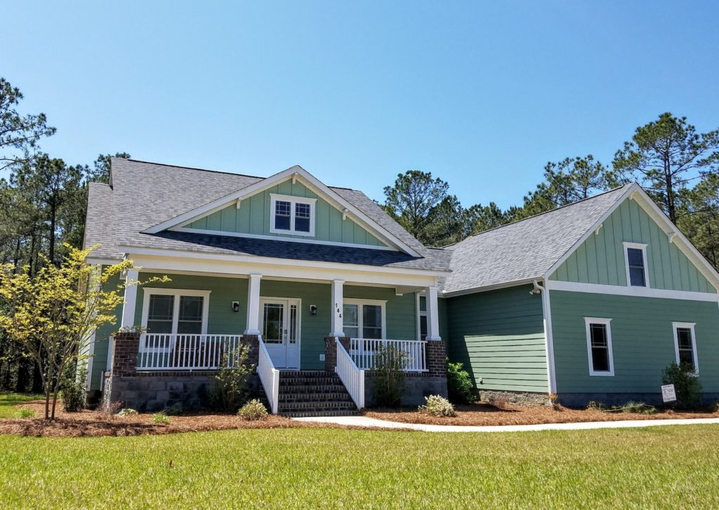 The Scanlon Residence is one of many cottage homes at Arlington Place, a riverfront neighborhood in Minnesott Beach, NC.