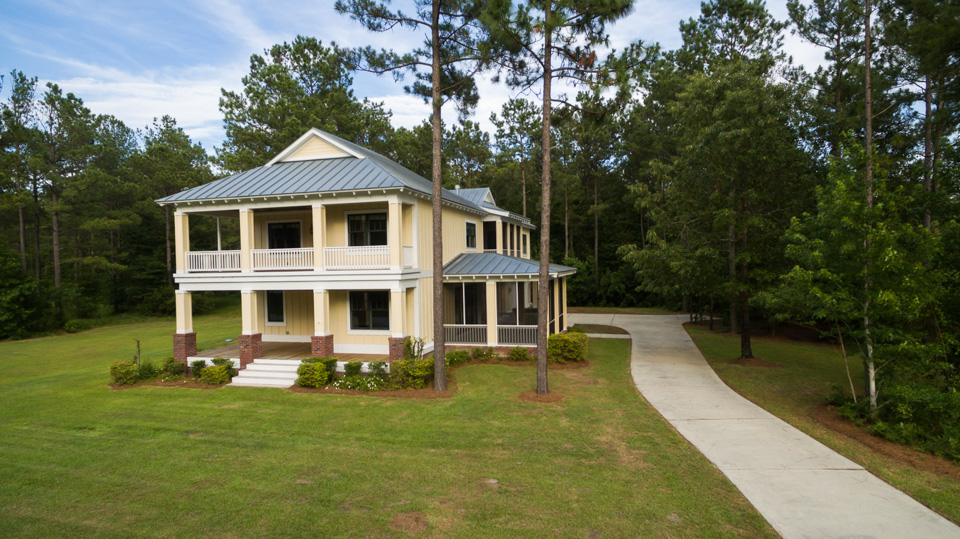 Southern Charm is a custom home built on homesite 123 at Arlington Place, a riverfront neighborhood in Minnesott Beach, NC.