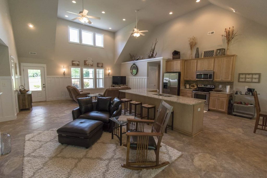 The 3 bed 2 bath King's Quarters has an open floor plan on one level and is a short walk to the clubhouse and pool.