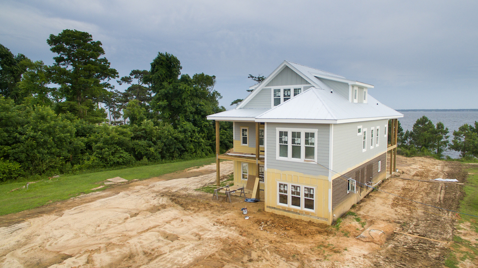The Foreman Residence nearing completion at Arlington Place.