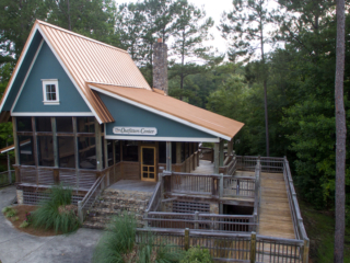 aerial view of the outfitter's center