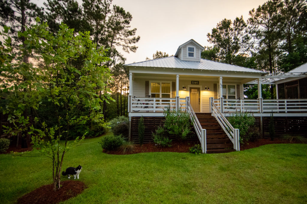 The 35 North Cottage is next to the Outfitters Center and Mill Creek. A perfect place to launch your next adventure.