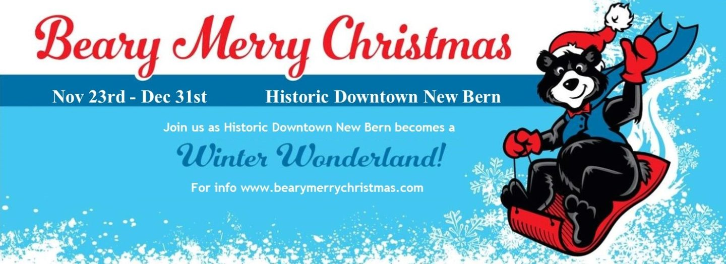 Beary Merry Christmas holiday event in downtown New Bern, NC.