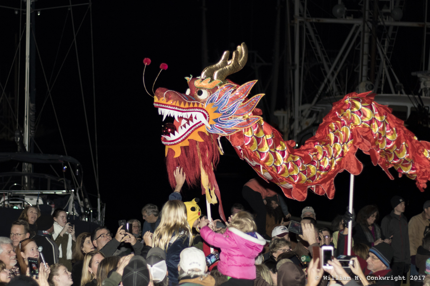 The annual running of the dragon in Oriental, NC.