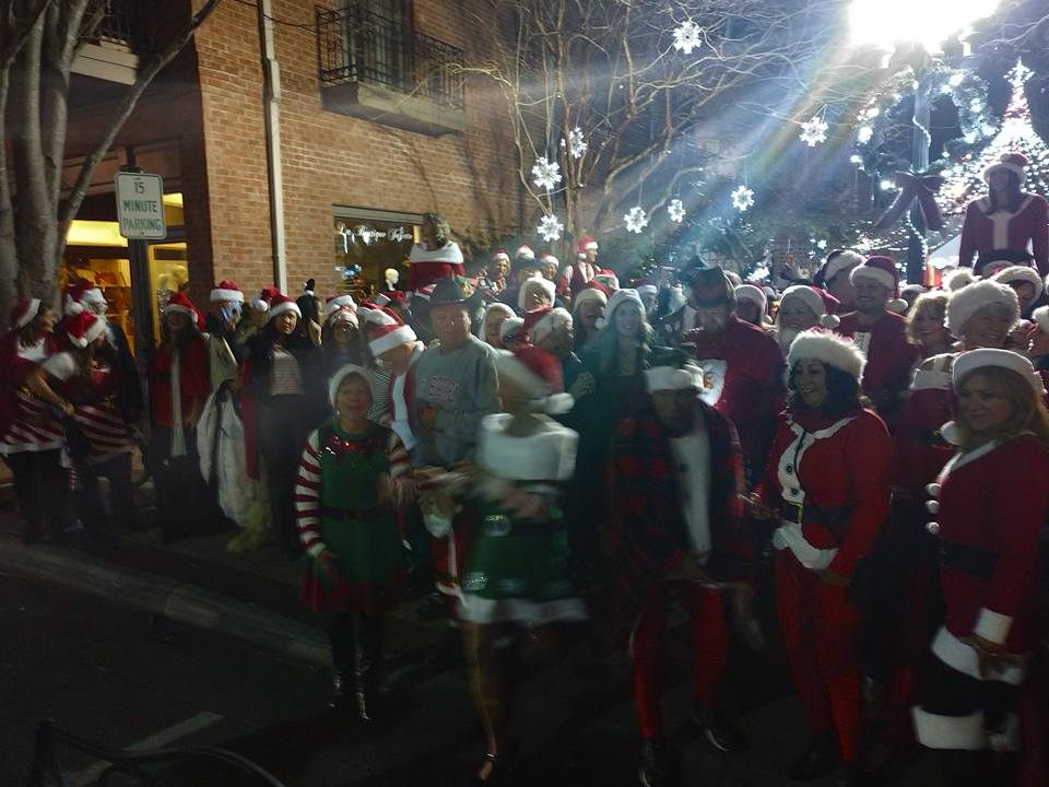 Get your Santa on this holiday season at SantaCon in downtown New Bern, NC.