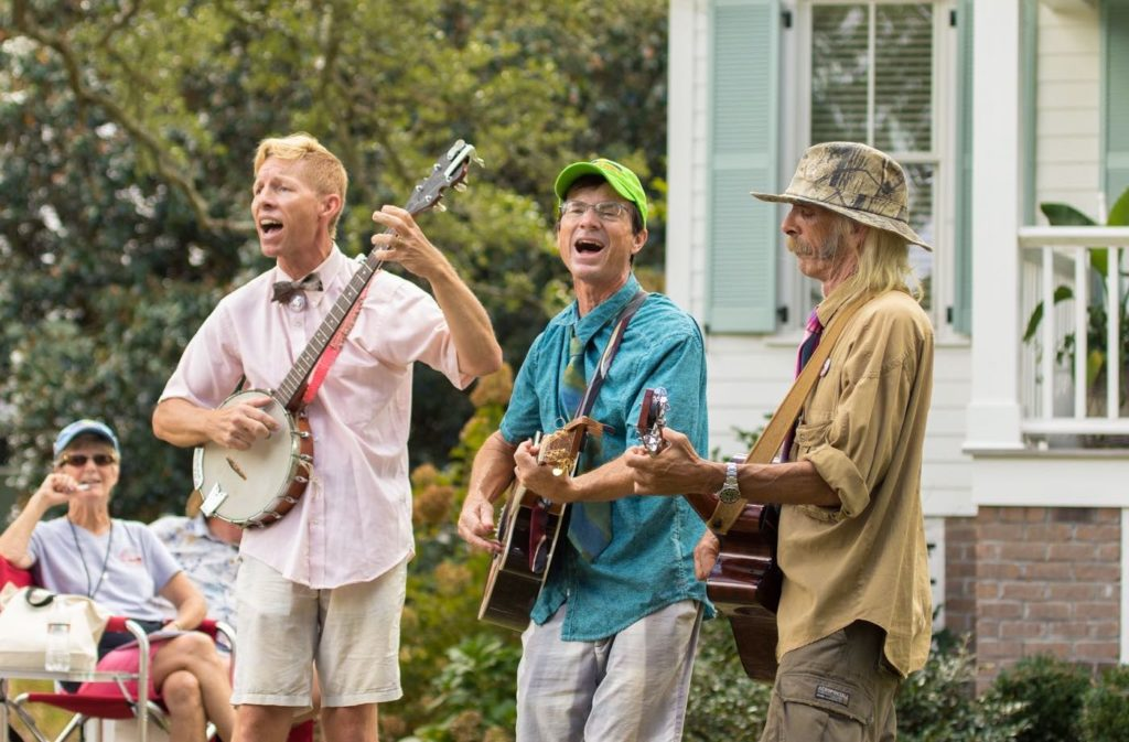 The Salty Paws performing at the Ol Front Porch Music Festival in Oriental, NC.