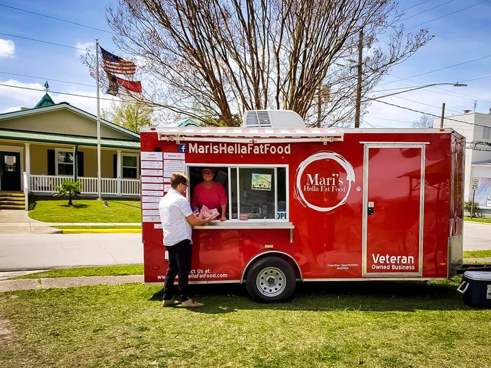 Food truck Fridays at the New Village Brewery in Oriental, NC.