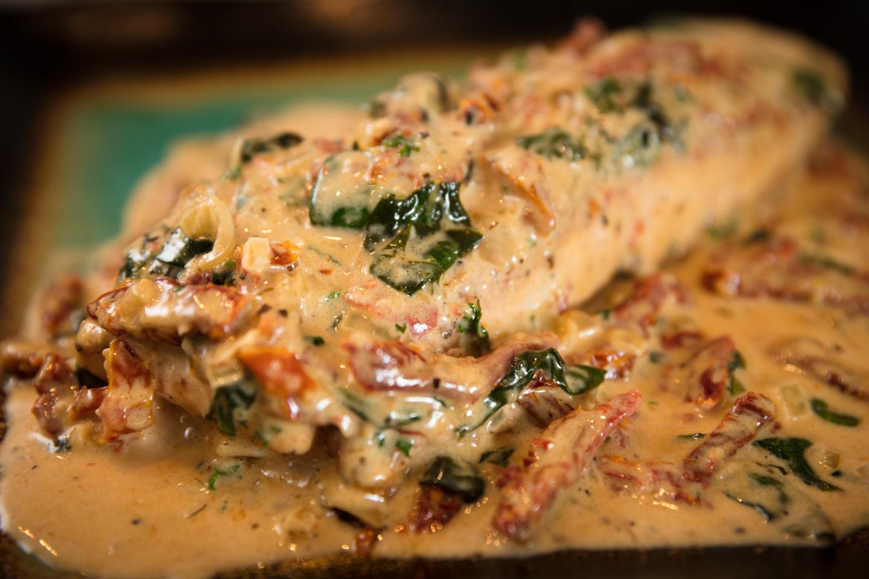Terri's Tuscan Salmon recipe.