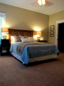 The Pamlico Cottage master bedroom.