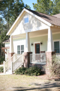 Exterior front porch of the Pamlico Cottage.