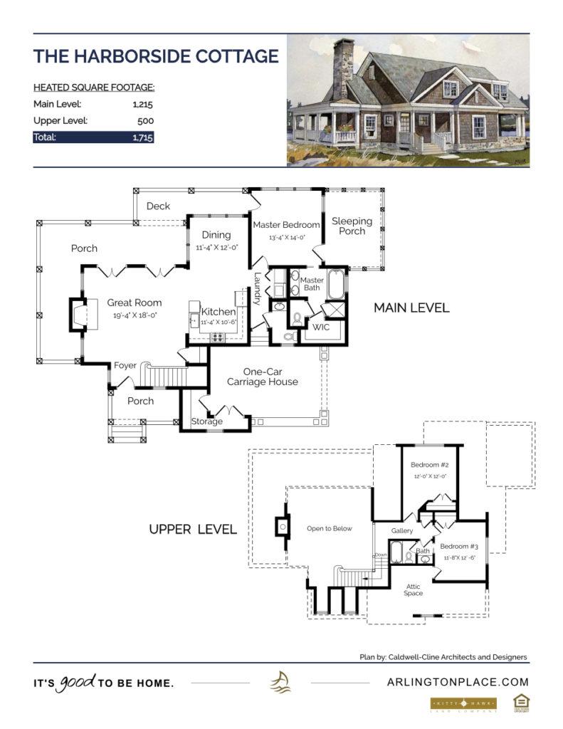 The Harborside Cottage Home Plan