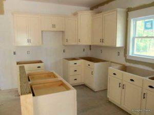 The Pamlico Cottage kitchen under construction.