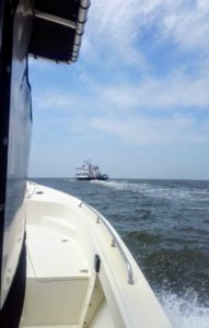 Making the trip across the Pamlico Sound from AP to Ocracoke.