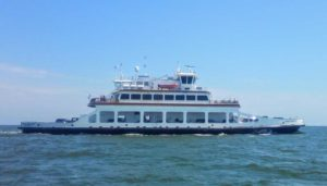 Passenger ferry headed to Ocracoke.