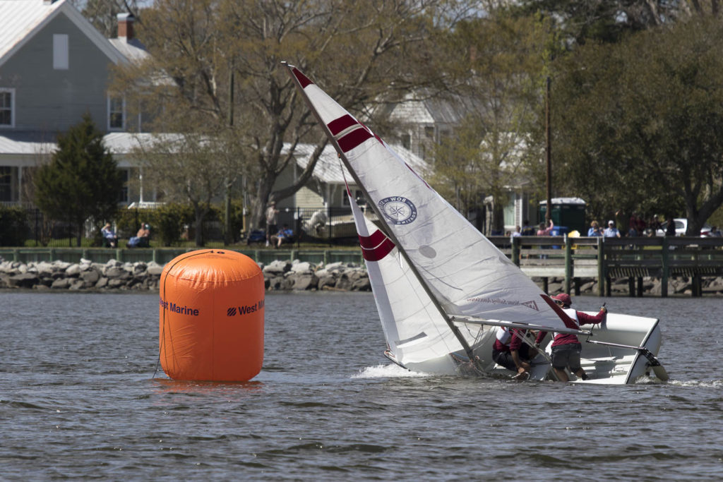 Sailboat racing in Oriental, NC. Photography by Will Conkwright.