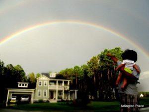 Rainbow over The Creek House.