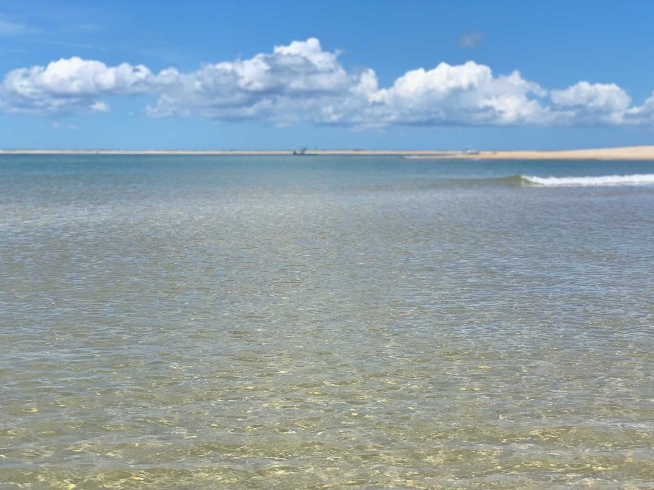 Crystal clear Caribbean water near Ocracoke Island, NC.