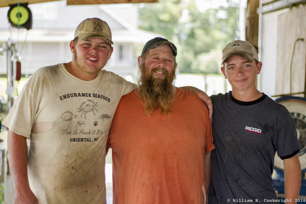 Pamlico County fishermen, Zach, Keith and Ben Bruno of Endurance Seafood.
