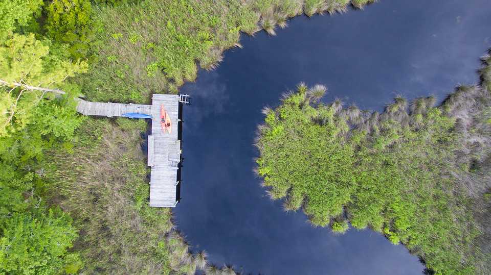 aerial of Mill Creek dock