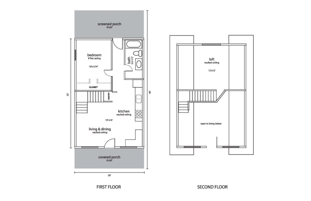 "The ""All Joy"" cottage home floor plan."