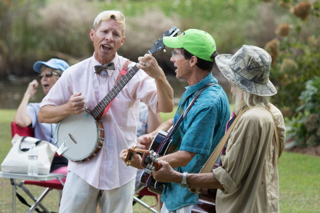 Salty Dogs performing at the Ol' Front Porch Music Festival in Oriental NC.