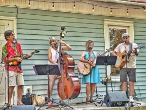 Brant Island Strings performing at the brewery in Oriental, NC.