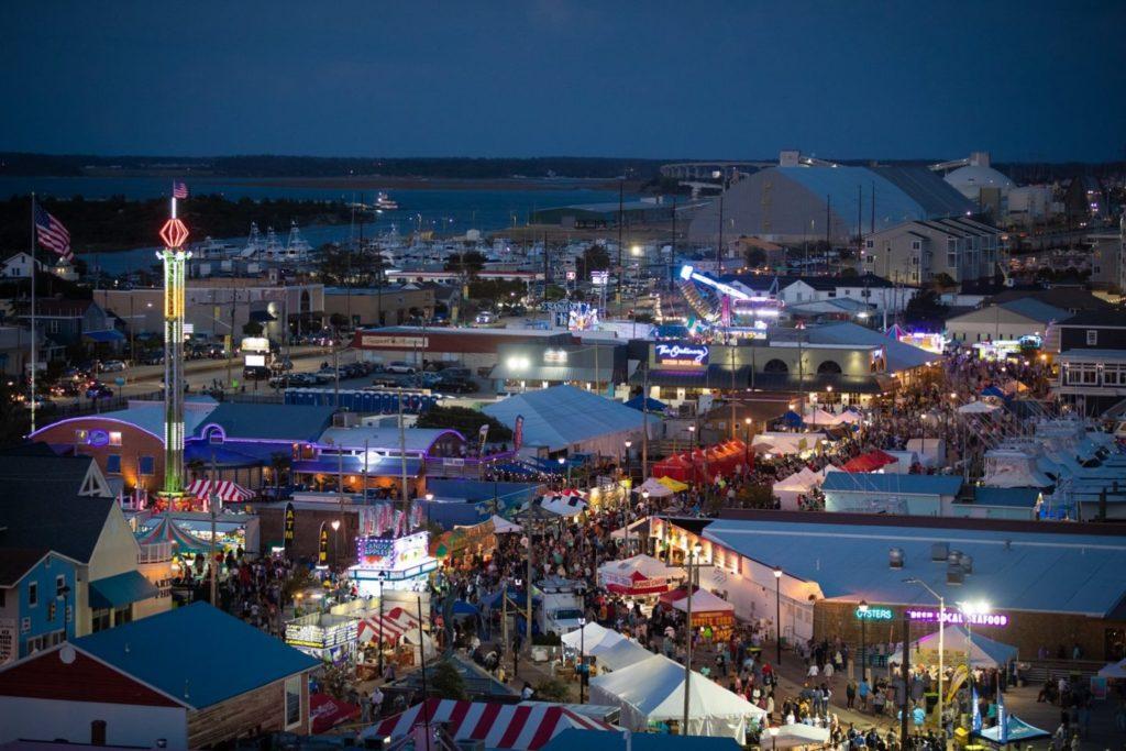 Seafood festival aerial