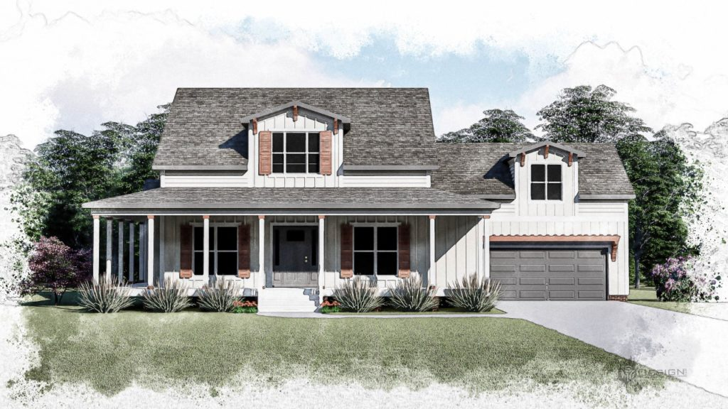 Artist rendering of the Southern Comfort spec home.