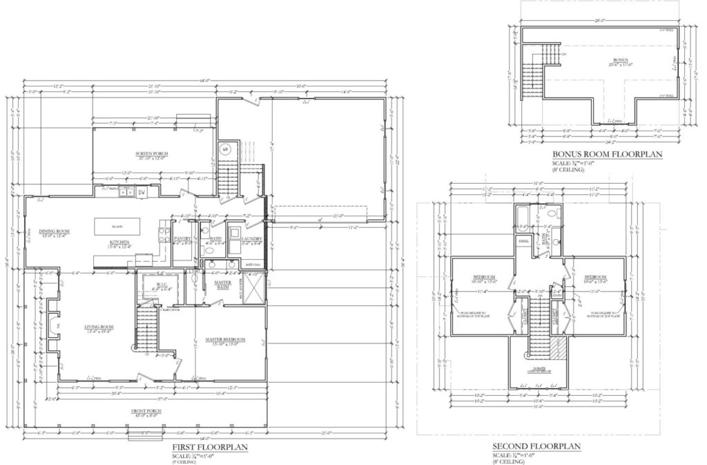 Revised floor plan for a soon to be completed spec house.