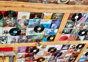 records on the ceiling at silos