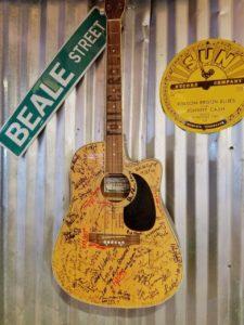 signed guitar - silos restaurant