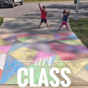 homeschooling art class