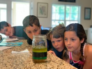 kids science rainbow water