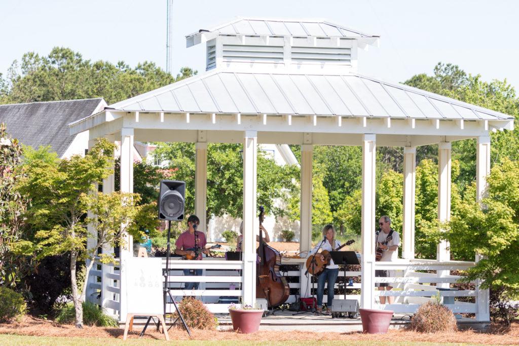 Brant Island Strings performing under the AP gazebo.