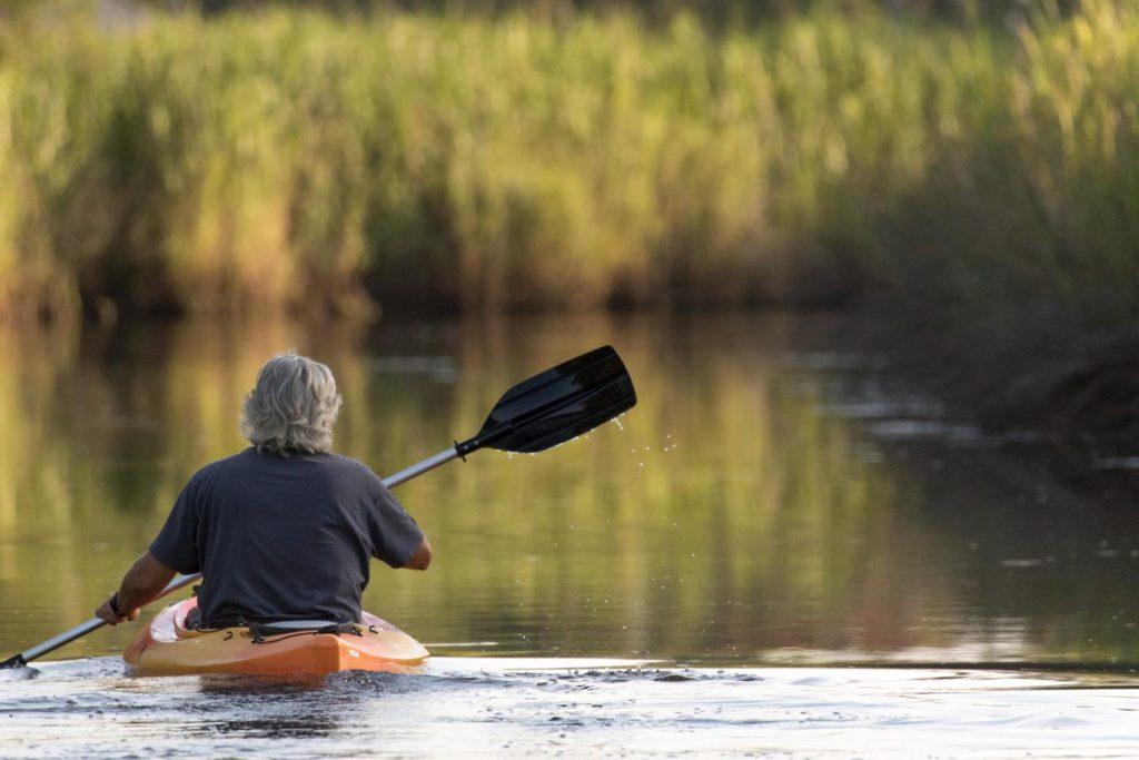 kayak on Mill Creek