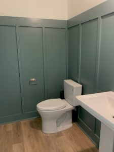 powder room board and batten