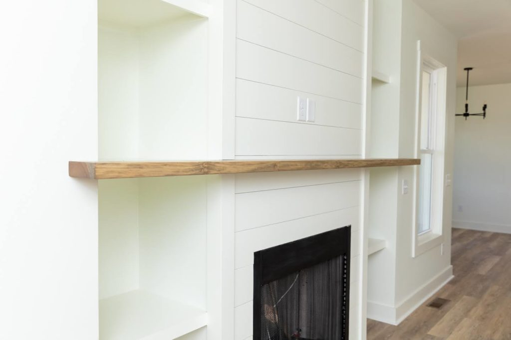 mantel and fireplace Southern Comfort