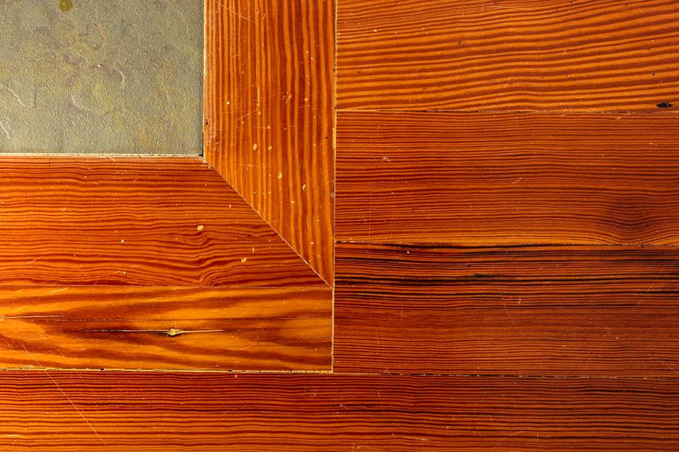 Heart pine hardwood floors.