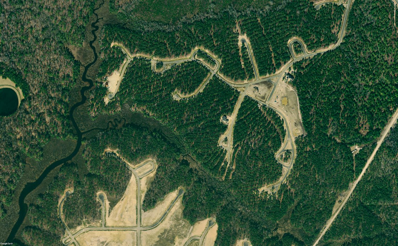 Historical aerial imagery of Arlington Place, a riverfront neighborhood located along the Neuse River near Minnesott Beach, North Carolina.