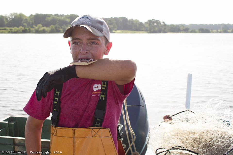Pamlico County fisherman carrying on local traditions.