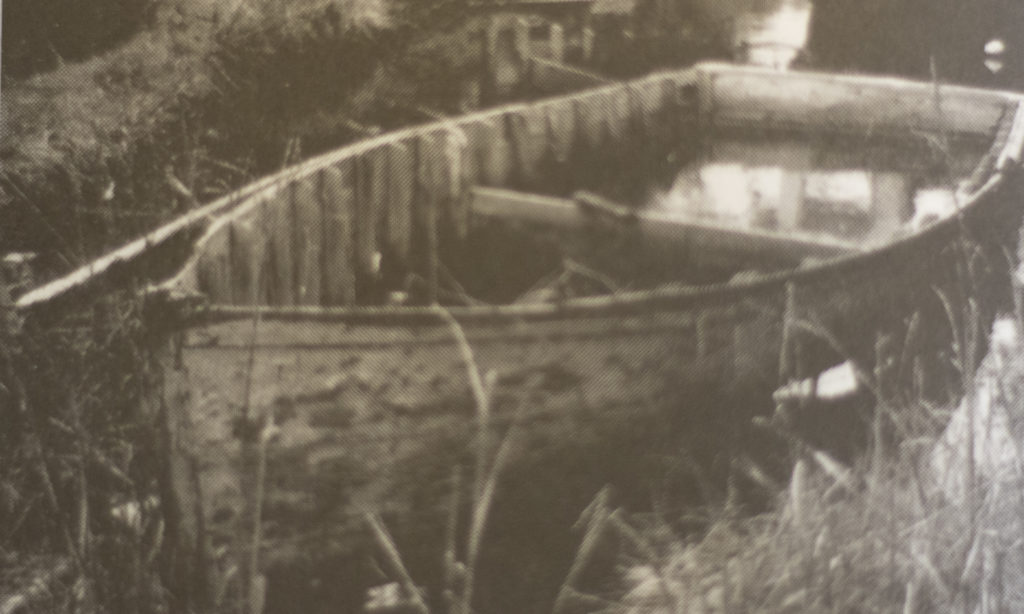 Historic photograph of an old net skiff.