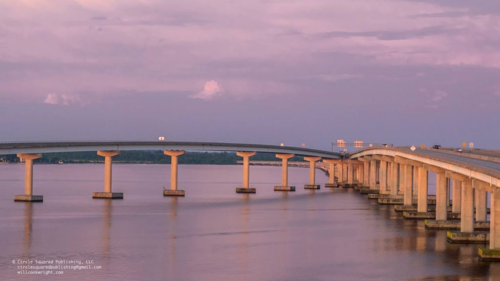 Bridges over the Neuse River outside of New Bern, NC