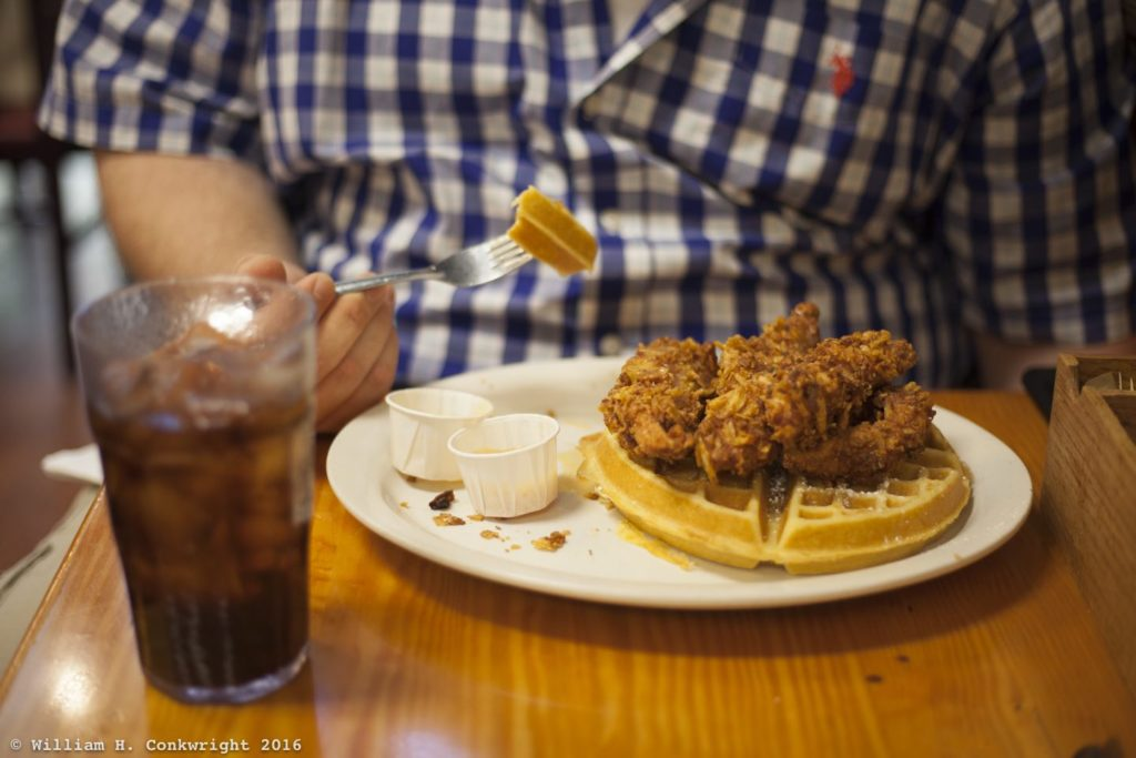 Chicken and Waffles from the Baker's Kitchen in New Bern.