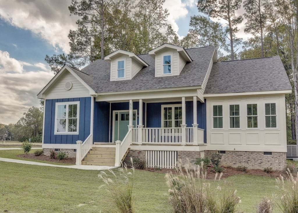 The The Blisswood Cottage is one of the many custom homes you'll find at Arlington Place, a private waterfront community in Minnesott Beach, NC.