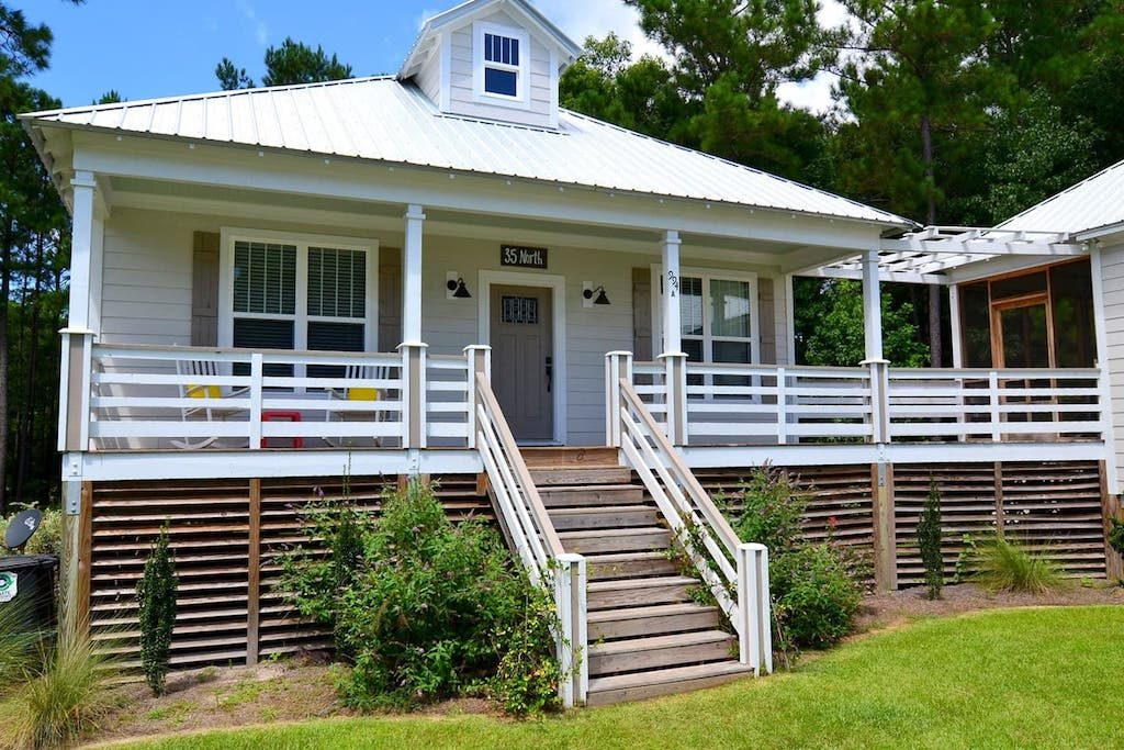 The The 35 North Cottage is one of many Outfitter's rental cottages at Arlington Place, a vacation destination in Minnesott Beach, NC.