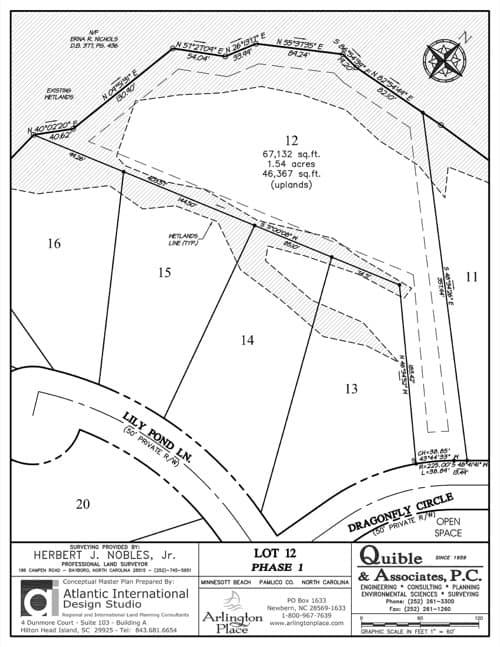 Arlington Place homesite 12 plat map.