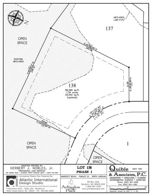 Arlington Place homesite 138 plat map.