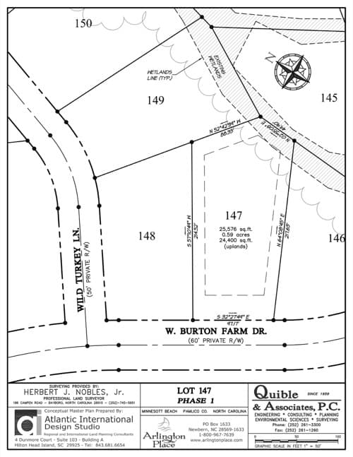 Arlington Place homesite 147 plat map.