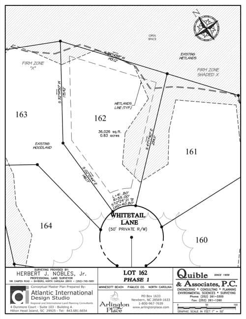Arlington Place homesite 162 plat map.