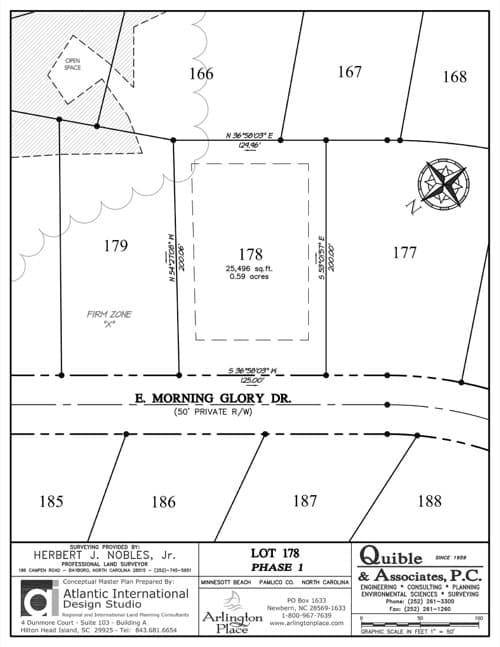 Arlington Place homesite 178 plat map.